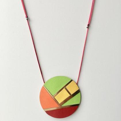 Mosico Red Necklace - Collar Mosico..